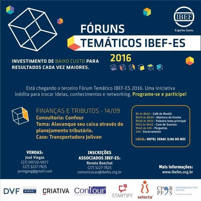 Fóruns Temáticos IBEF-ES 2016